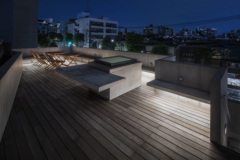 品川オフィス 屋上 夜景